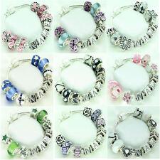 Girls Personalised Jewellery Charm Bracelet Birthday Christmas Gifts 11 Designs