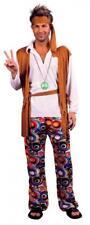 Mens Hippie Fancy Dress Costume 1960's Hippy Budget  sixies