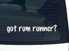 got rum runner? DRINK LIQUOR BOAT FUNNY DECAL STICKER ART WALL CAR CUTE