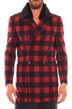 Cappotto Daniele Alessandrini Jacket Coat -55% ITALY Uomo Rosso T370M4123505-9