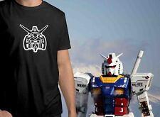 Original Gundam RX-78-2 Face Symbol Mens Crew Neck Top Tee Unisex T-Shirt