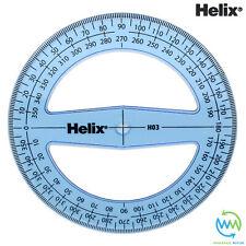 HELIX 360 Degree Protractors CLEAR School Exam Protractor ANGLE MEASURE 10cm H03