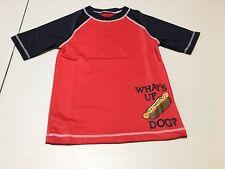 NWT Gymboree Boy Hot Dog Rash Guard Shirt Top Swimsuit UPF 50+ S,M,L,XL