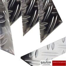 Aluwinkel 1250mm Aluwinkel 100x10 mm Schenkelinnenma/ß aus Alu Riffelblech Duett 1,5//2,0 mm stark Alu Blechwinkel,Winkelprofil,