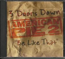 3 DOORS DOWN Be Like That w/ RARE ACOUSTIC TTK PROMO DJ CD  Single Three