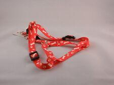 Nylon Easy Step Hundegeschirr 35 cm - 55 cm x 1,5 cm in grün und rot REDUZIERT