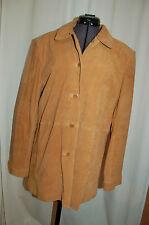 Anne Klein Camel Suede Blazer Jacket Size M