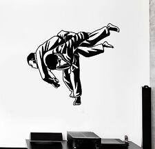 Wall Decal Martial Arts MMA Fight Jiu Jitsu Sports Vinyl Stickers (ig3002)