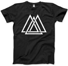 Geometric Interlocking Triangles Maze Shape Print Hipster Mens Unisex T-Shirt