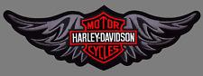 HARLEY DAVIDSON TRIBAL WING BAR SHIELD PATCH (XXL)  12  INCH