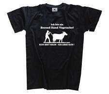 Ich bin ein second hand Vegetarier - Kuh isst Gras - Ich ess Kuh  T-Shirt S-XXXL
