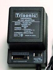 Universal AC/DC Power Adapter Output 1.5V 3V 4.5V 6V 9V 12V 500 mA 2 Sony Plugs