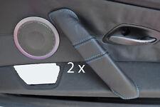 Blue stitch fits BMW Z4 E85 03-11 2x poignée de porte couvre en cuir