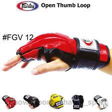 FAIRTEX FGV12 ULTIMATE COMBAT GLOVES OPEN THUMB LOOP MARTIAL ARTS MMA K1 BOXING