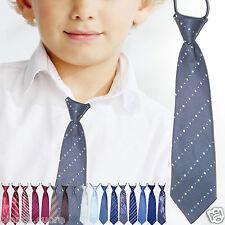 CRAVATTA BAMBINO cravattino grigio ricamato 2/8 anni ENTRA TANTI COLORI D0481