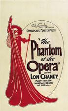 The phantom of the opera Lon Chaney cult movie poster print