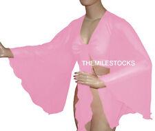 TMS Pink Flair Wrap Top Choli Belly Dance Club Costume Blouse Haut Boho Tribal