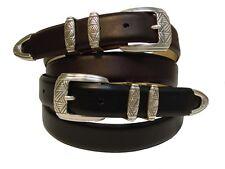 "BIG & TALL Mens Dress Belt Smooth Calf Skin Leather Belt New Black Brown 46-54"""