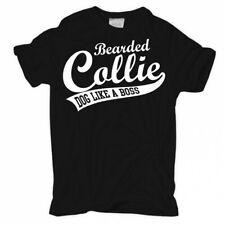 T-shirt Bearded Collie BOSS cani razza allevatore di cani supporto cuccioli Verein farli D