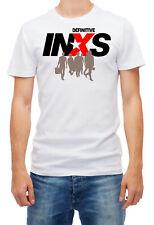 INXS DEFINITIVE Men's Print White, cotton,  Short Sleeve T Shirt