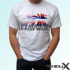 Hawaii palm flag - white t shirt top design - mens womens kids & baby sizes