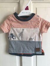 Age 18 Months to 5 Years Grey Stripe Boys BNWT Nutmeg Stripe T-Shirt