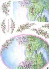 Carta di Riso Collezione Stamperia  33 x 50 Arte colore hobby PRIMAVERA
