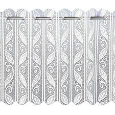 WHITE LEAF LACE VERTICAL LOUVRE PLEATED FOLDING NET WINDOW MOCK BLINDS PANELS