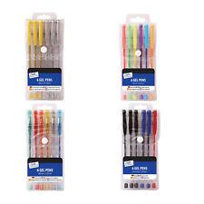 6 Pack Tallon Gel Ink Pens Choose Glitter, Neon, Gold/Silver or Standard
