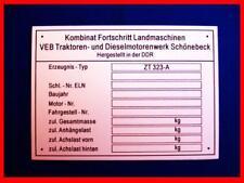 ZT 323 Fortschritt ( Typenschild ) -ANSEHEN LOHNT SICH-