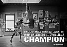 Mike Tyson Poster Boxen Fitness Handschuhe Fotodruck Bild Poster Wandkunst A3 A4