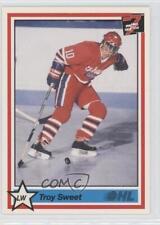 1990-91 7th Inning Sketch OHL #347 Troy Sweet Oshawa Generals (OHL) Hockey Card