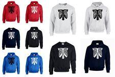 Ribcage Halloween DAD Skeleton HOODIE JUMPER Skull Horror Punk XS-3XL (RIBCAGE)