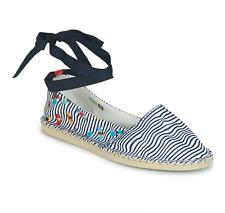 Havaianas Womens Origine Slim Espadrille Shoes - White/Black Stripes