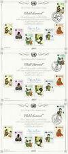 UNITED NATIONS 1985 CHILD SURVIVAL SET 3 SOUVENIR CARDS SHSs