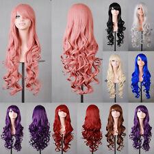 Perücke Lang 80 cm Anime Manga Cosplay Haarersatz Damenperücke Wig Gelockt lange