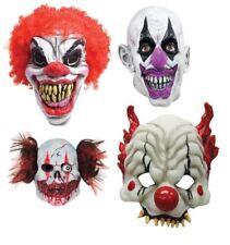 Scary Evil Clown Masks Wig Halloween Horror Latex Fancy Dress Costume