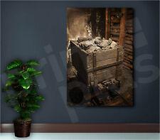 Coal Mine Cart Full of Coal Canvas Art Poster Print Home Wall Decor