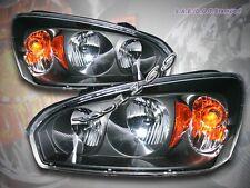 04-07 CHEVROLET MALIBU CRYSTAL BLACK HEADLIGHTS LH RH HEAD LAMPS ASSEMBLY