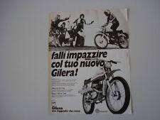 advertising Pubblicità 1972 MOTO GILERA 50 5V TRIAL