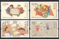Hong Kong 2004 giochi per bambini/SCACCHI/gioco della campana/ARTE/Pittura Set 4v (n35513)