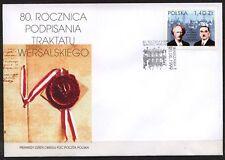 POLAND 1999 FDC SC#3467A Versailles Treaty, 80th Anniv.
