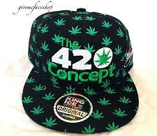 LEAF 420 Snapback Coperchi, Hip Hop Baseball Sfoltisci Cappelli, foglia piatta picchi Street Hip