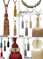 Tie Backs Pair Curtain Hold Backs Tiebacks Designer Tassel Crystal Bead Vintage