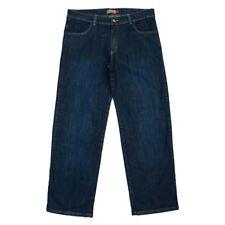 Clove  Womens Straight Wide Leg  Blue Denim Mid High Waist Jeans Plus Size 16-24