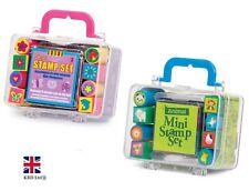 10Pc Kids MI STAMPS + INK PAD BOX SET Animal Stamp Seal Inking Child Toy Gift UK