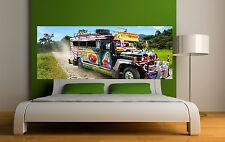 Sticker tête de lit décoration murale Bus tuning réf 3671 (5 dimensions)