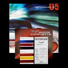 CORVETTE 2005 - BOOK + DVD + BROCHURE + CHART - CHEVROLET: 05 C6 LS2 CONVERTIBLE