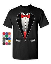 Funny Tuxedo Bow Tie T-Shirt Tux Wedding Party Tee Shirt
