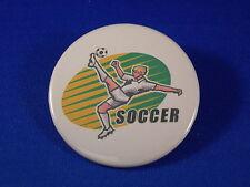 "SOCCER kick Lot of 12 BUTTONS  pins team sports 2 1/4"""